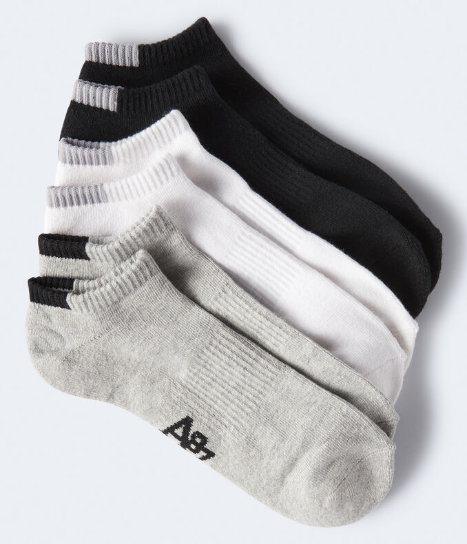 3-Pack Neutral Solid Ankle Socks