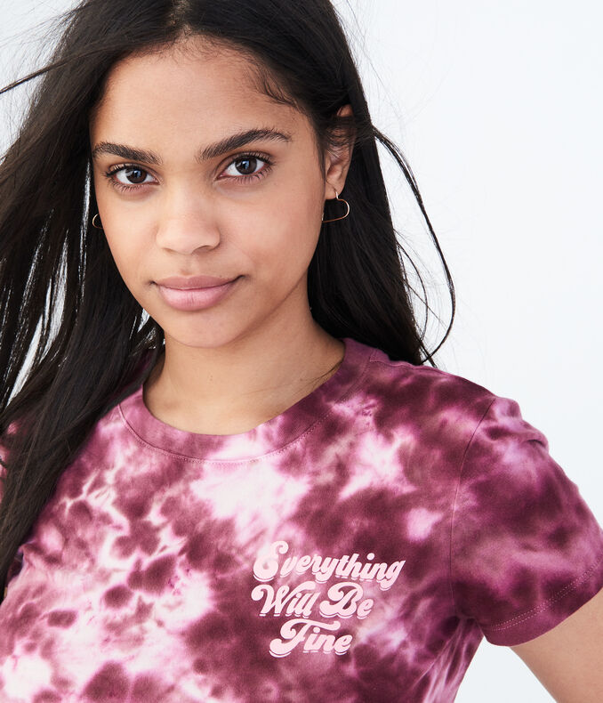 Everything Will Be Fine Tie-Dye Graphic Tee