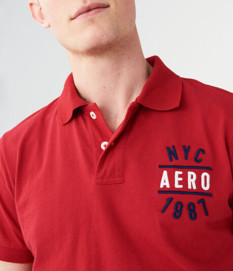 NYC Aero 1987 Graphic Jersey Polo