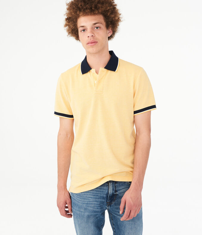 Contrast Tipped Piqué Polo by Aeropostale