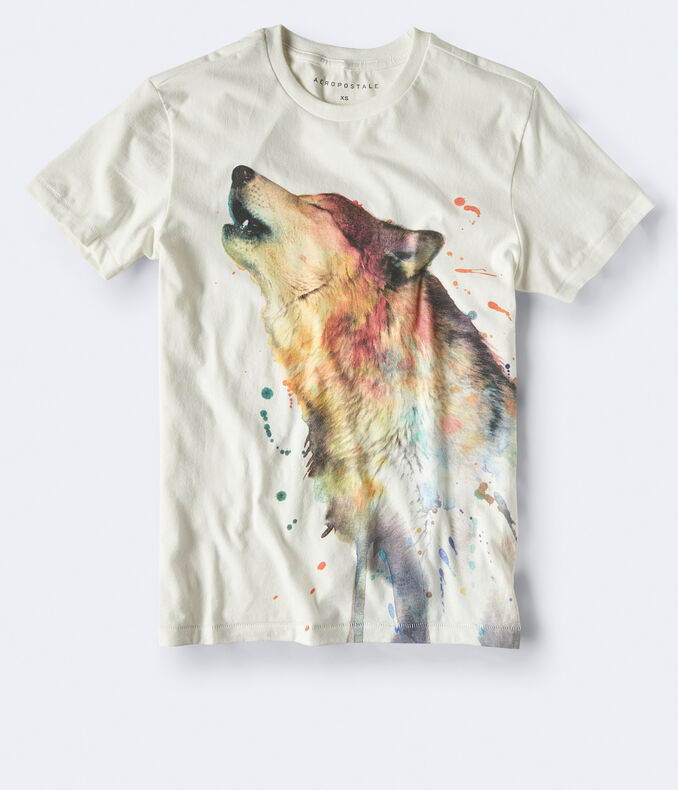 Watercolor Wolf Graphic Tee