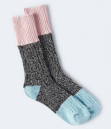 Seriously Soft Colorblocked Boot Socks***