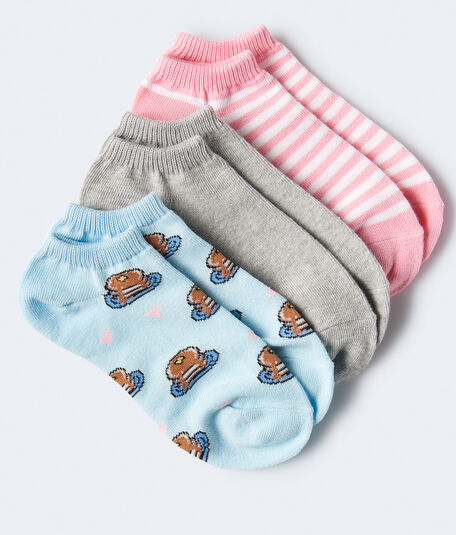 Pancakes Ankle Sock 3-Pack***