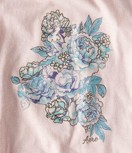 Foil Floral Graphic Tee