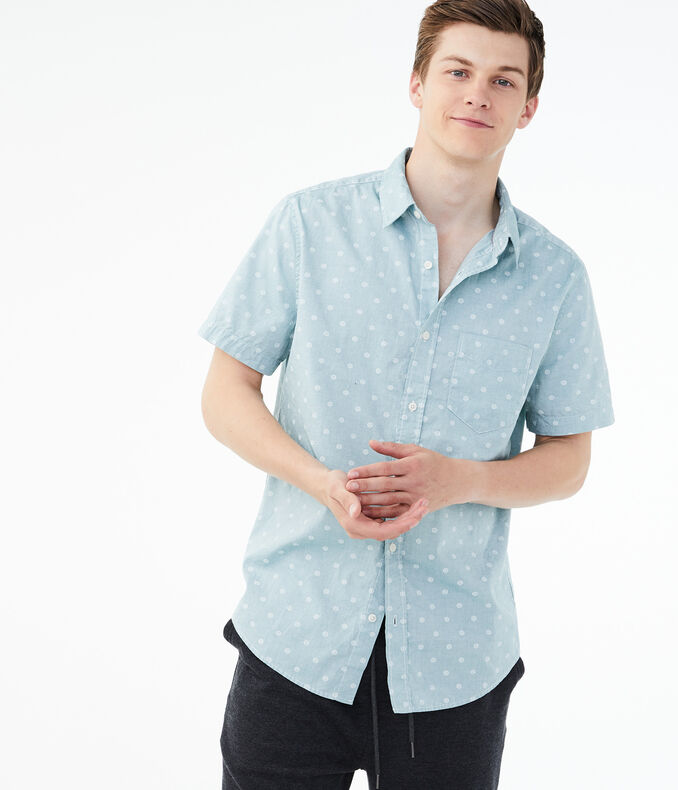 Circle Button-Down Shirt