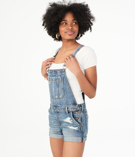 Medium Wash Denim Shortall
