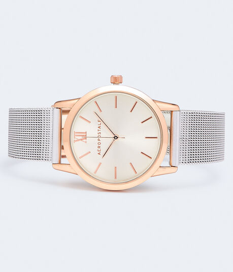 Round Metal Mesh Analog Watch***
