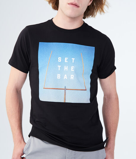 Set The Bar Stretch Graphic Tee