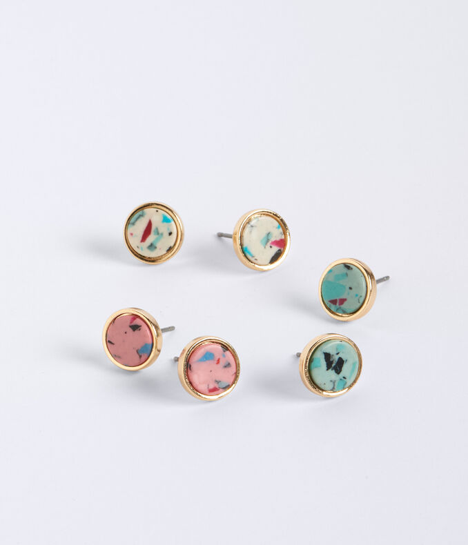 Marbled Stud Earring 3-Pack