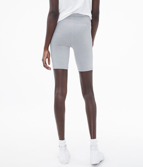 Heathered High-Rise Bike Shorts