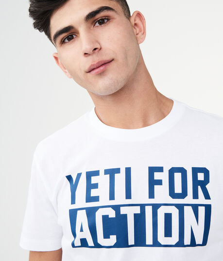 Yeti For Action Graphic Sleep Tee