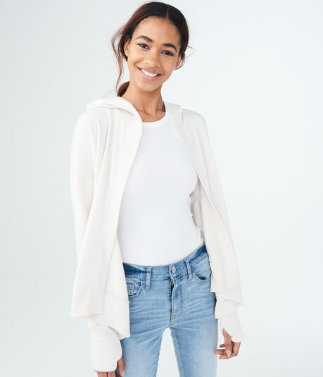 LLD Solid Hooded Cardigan