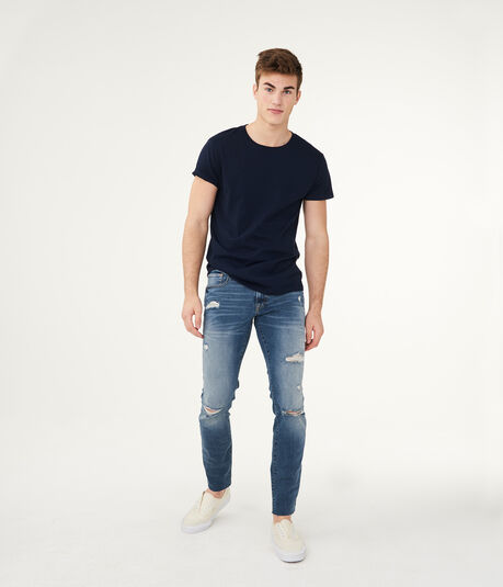 Flex Effects Skinny Medium Wash Destroyed Jean