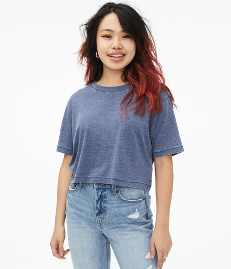 Boxy Cropped Crew Tee