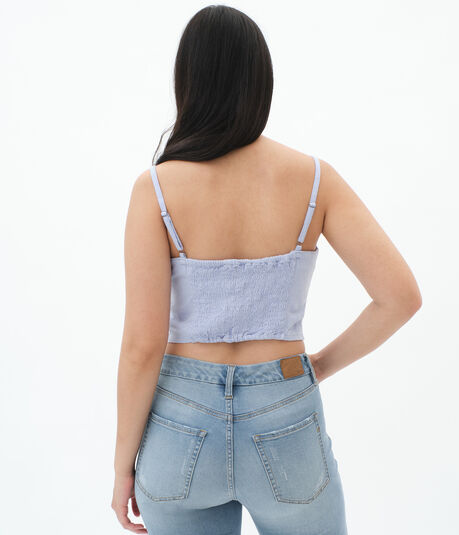 Hook-And-Eye Cropped Tank***