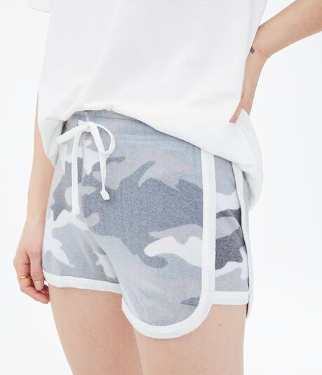 Camo Fuzzy Girlfriend Shorts