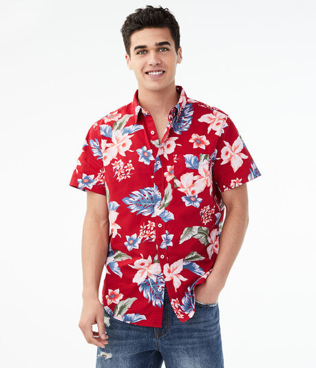 Tropical Button-Down Shirt