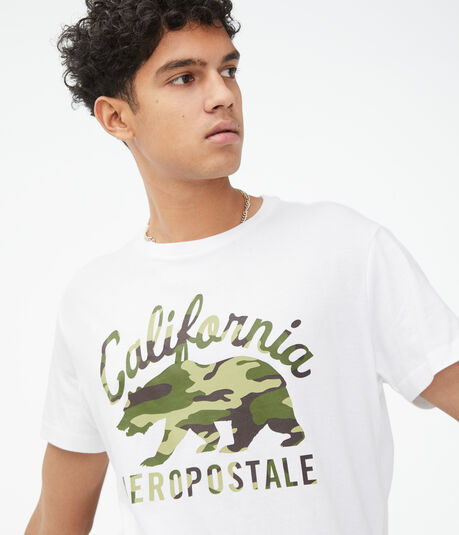 Cali Camo Bear Graphic Tee