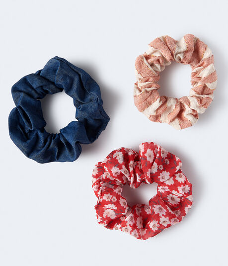 Daisy Floral Scrunchie 3-Pack