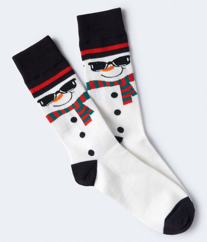 Sunglasses Snowman Crew Socks