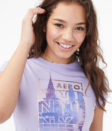 NYC City Scene Foil Graphic Tee