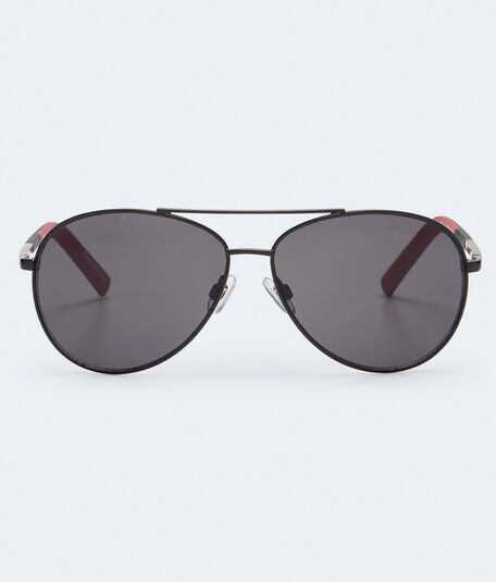 Two-Tone Arm Aviator Sunglasses