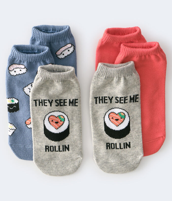 Sushi Ankle Sock 3-Pack