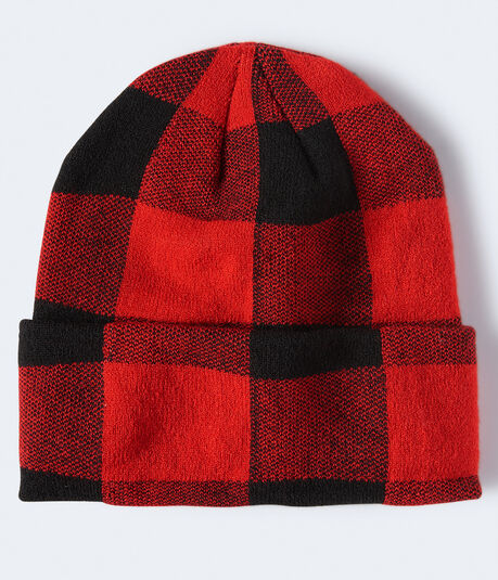 Buffalo Plaid Turnback Beanie