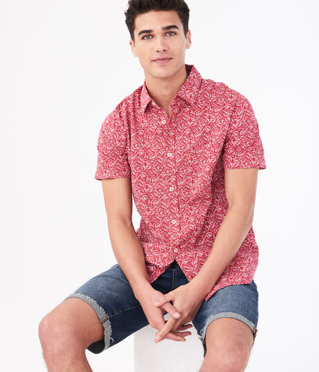 Abstract Leaf Button-Down Shirt
