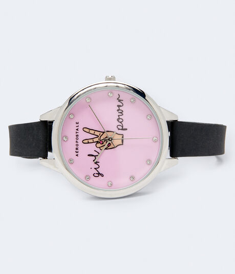 Rubber Girl Power Analog Watch
