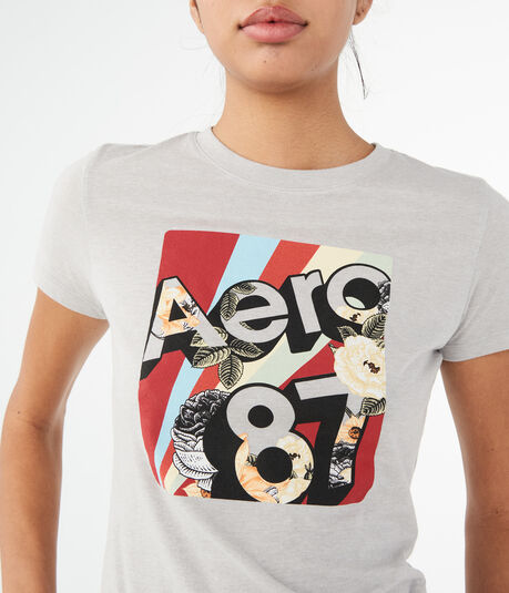 3D Aero 87 Floral Graphic Tee