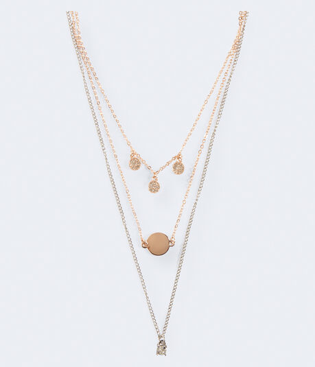 Mixed Metal Short-Strand Necklace 2-Pack