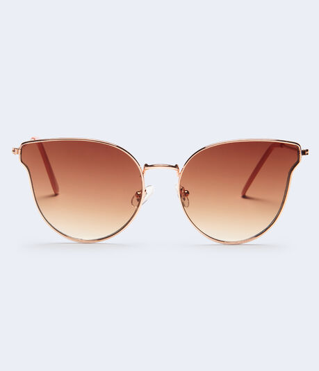 Flat Lens Cateye Sunglasses