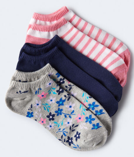 Floral Ankle Sock 3-Pack