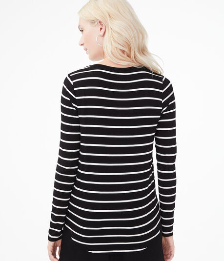 Long Sleeve Seriously Soft Striped Crew Tee