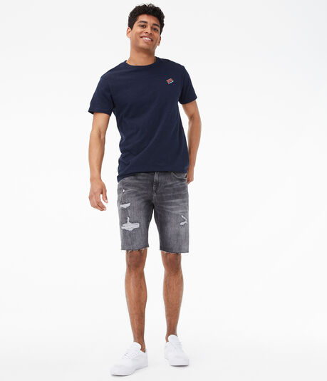 "Real Denim 9.5"" Slim Cutoff Shorts"