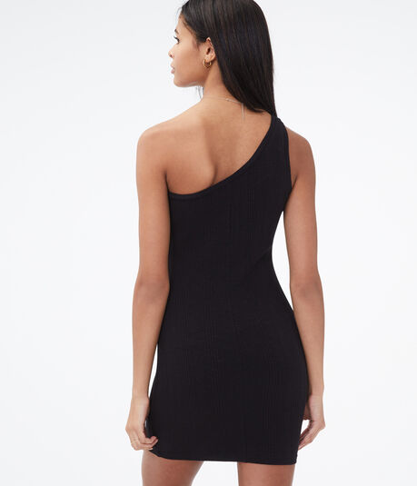 Ribbed One-Shoulder Bodycon Dress***
