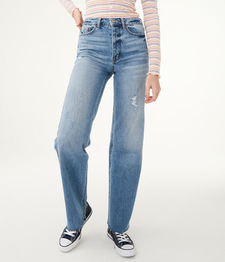 High-Waisted Wide Leg Jean