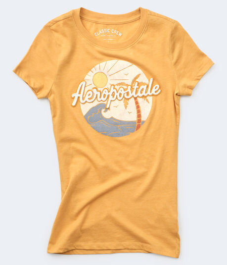 Aeropostale Tropical Scene Graphic Tee