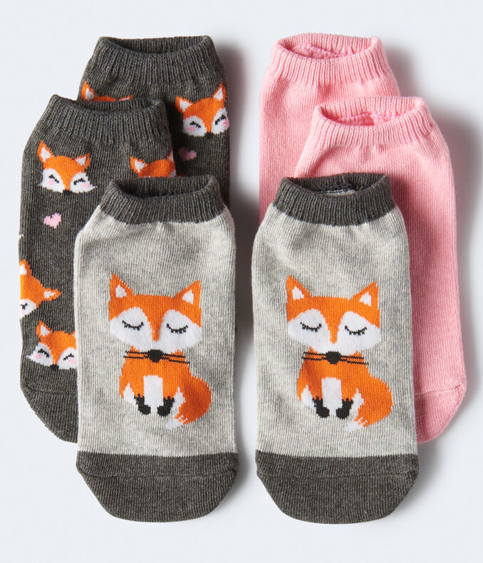 Fabulous Foxes Ankle Sock 3-Pack