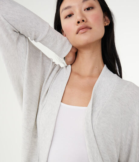 Heathered Dolman Cardigan