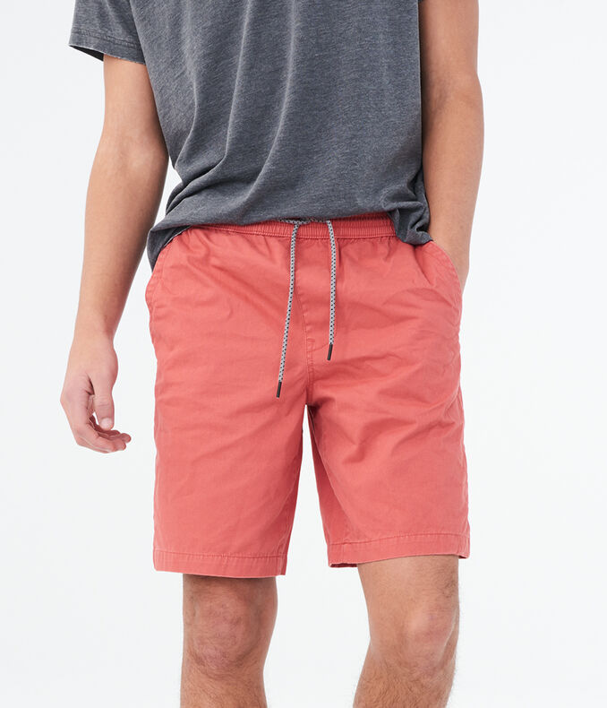 """Solid Twill 9"""" Jogger Shorts"""