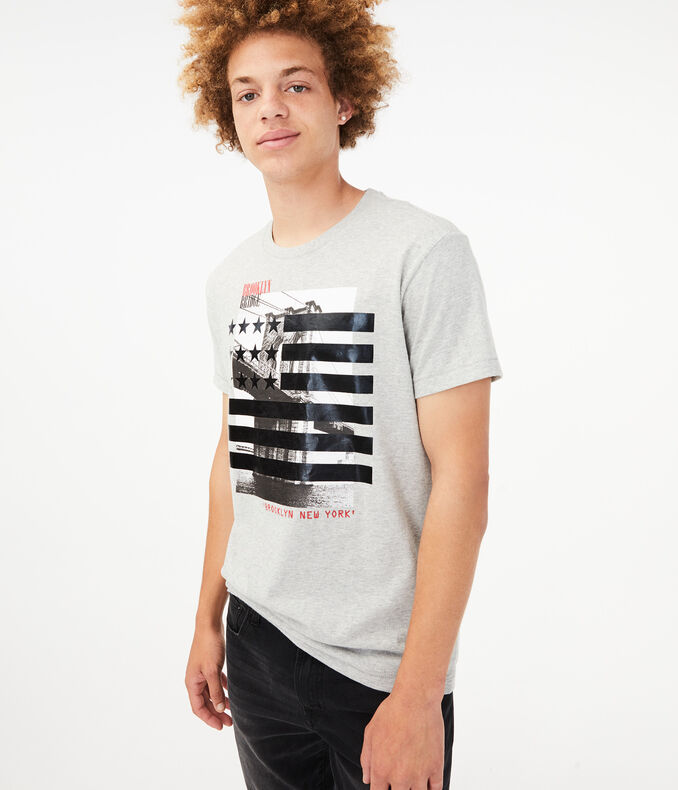 Free State Stars &Amp; Stripes Bridge Graphic Tee by Aeropostale