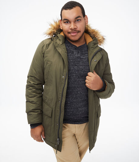 Faux Fur Hooded Parka