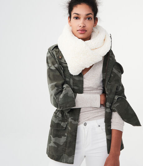 Solid Sherpa Infinity Scarf