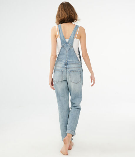 Light Wash Relaxed Denim Overalls