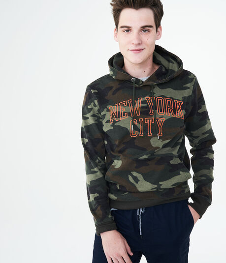 New York City Camo Pullover Hoodie