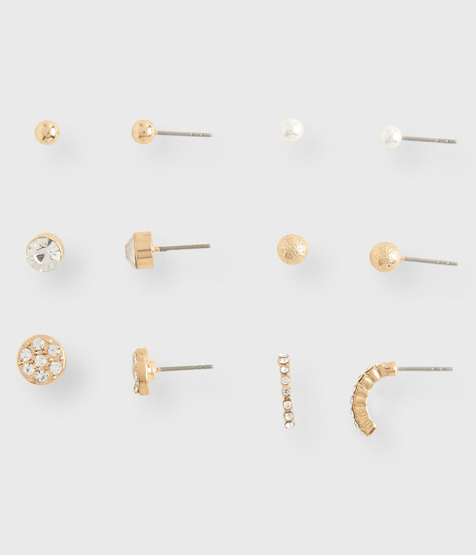 Traditional Stud Earring 6-Pack