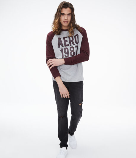 Long Sleeve Aero 1987 Raglan Graphic Tee