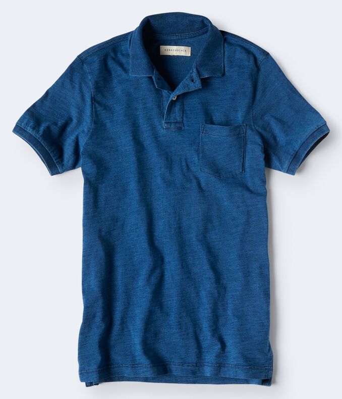 Indigo Pocket Jersey Polo